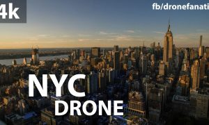 Drone video of NYC